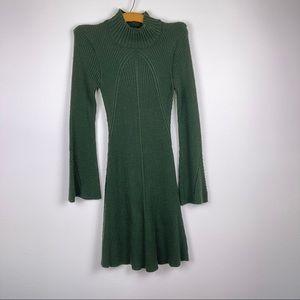 Sequin Hearts Hunter Green Mockneck Sweater Dress